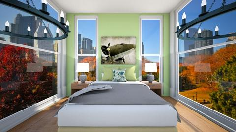 Green Bedroom - Country - Bedroom  - by Agamanta