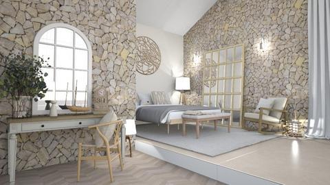 Sloped ceiling - Bedroom  - by hmm22