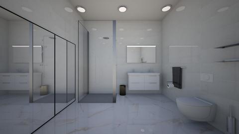 white apartment bathroom - Bathroom  - by Maryann CLOY lover