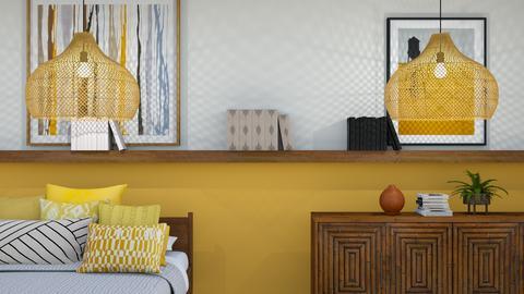 buttercup yellow - Minimal - Bedroom  - by Happyspaniel