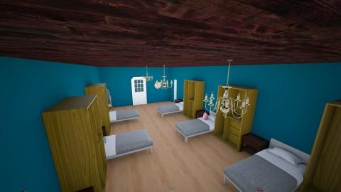 Academy Dorm - Bedroom - by interiordesignmajor013
