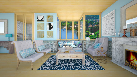 Blue House_Lounge - Eclectic - Living room  - by Laurika