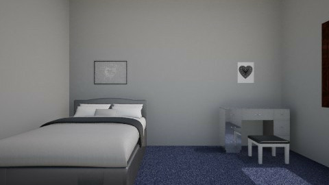 Gray room - Bedroom - by mary_01