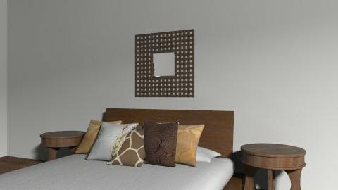 Brown & Orange - Rustic - Bedroom  - by Jessiecait