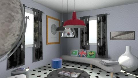 Salotto App Parioli - Retro - Living room  - by Sabrina Araujo