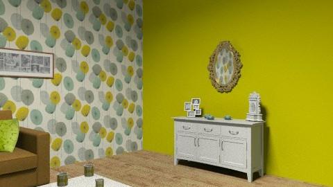 Dandelion Lounge - Vintage - Living room  - by floraleleanor