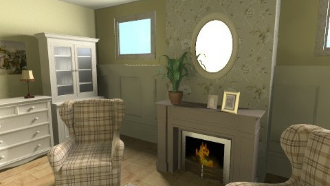 Old Room - Retro - Living room - by Emsia