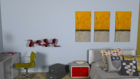 not so plain room  - Retro - Bedroom  - by Andrea_