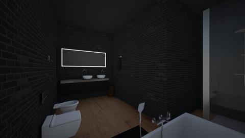 black bathroom  - Bathroom  - by AnnaWood