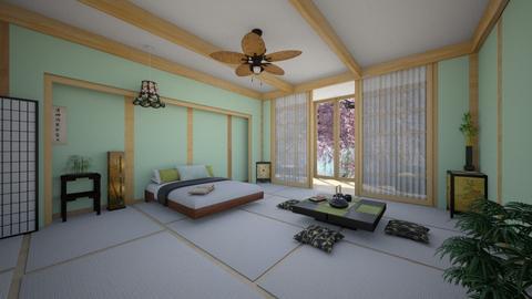 Japanese Bedroom - Classic - Bedroom  - by Sophia Cooper