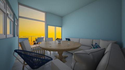 beach hut living room - Living room  - by flowerpandafox