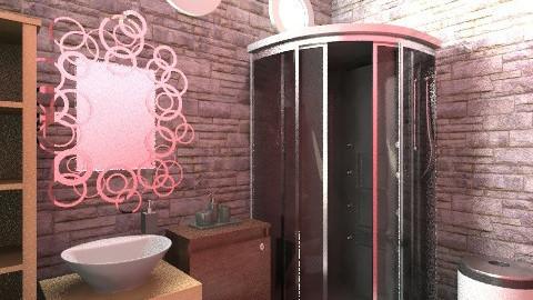 bathroom inside the room - Rustic - Bathroom  - by nixxatheya