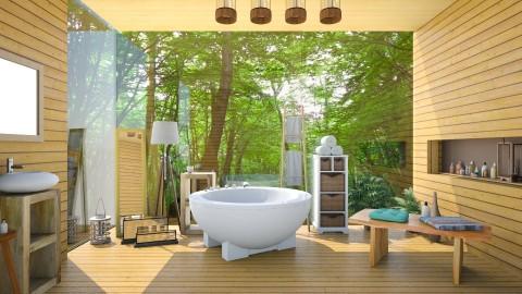 BathroomWoodNature - Modern - Bathroom  - by Mihailovikj Mimi
