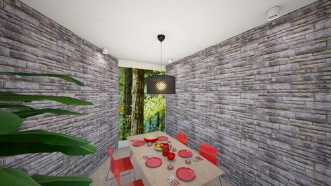 Pine dining room - Dining room  - by hbrai001