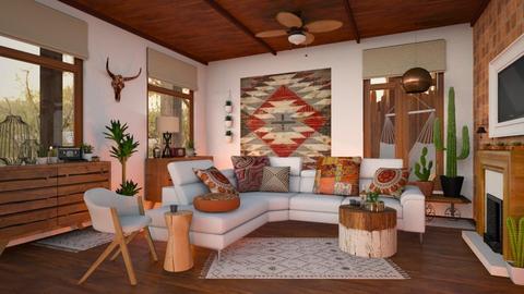 Earthly Elements - Living room - by Brenda DeVries