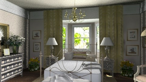 Golden bedroom - Eclectic - Bedroom  - by Laurika