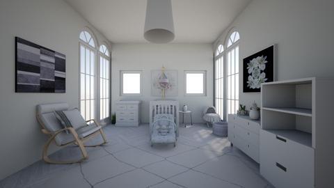 White nursery - Kids room  - by Chayjerad