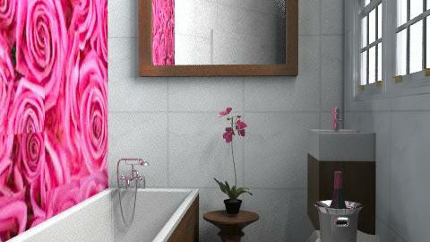 Roses and wine - Modern - Bathroom  - by toadfool