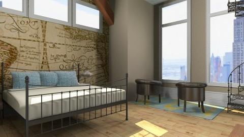 minimal travel - Rustic - Bedroom  - by monique_me