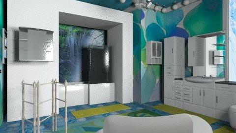 Blue luxury bath - Eclectic - Bathroom  - by wiljun