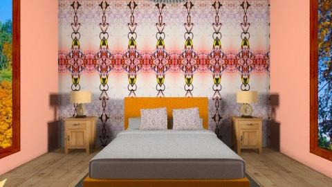 chic orange - Modern - Bedroom  - by Hayat Ahmed