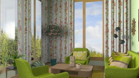 Moss - Retro - Living room  - by milyca8