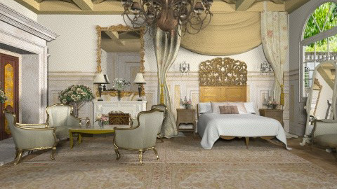 French Estate - Vintage - Bedroom  - by Baustin