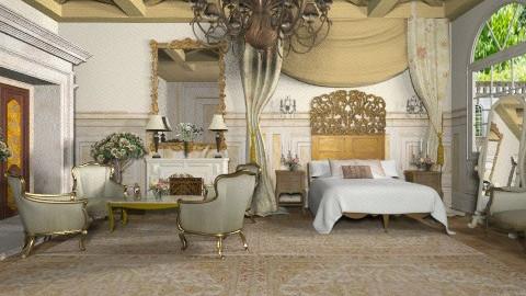 French Estate - Vintage - Bedroom  - by Baustin