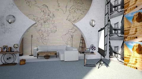 Travel Themed Living Room - Rustic - by popovicsonja