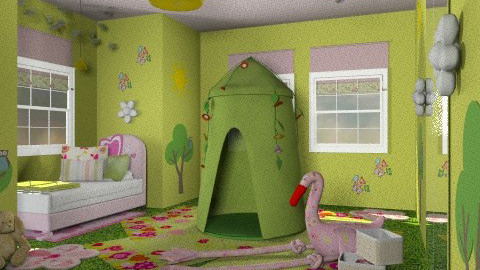 forest - Kids room  - by chania