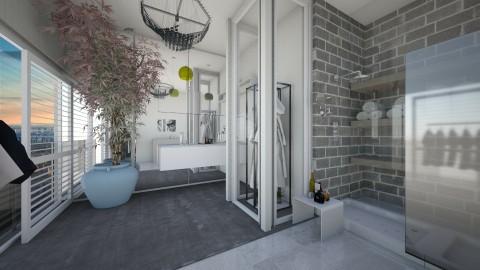 Bathroom and flower - Modern - Bathroom  - by Kalinowska