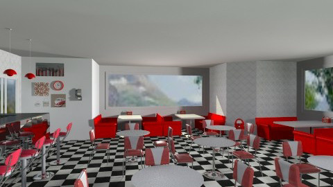 Retro Diner - Retro - Dining room - by MeeraPatel357