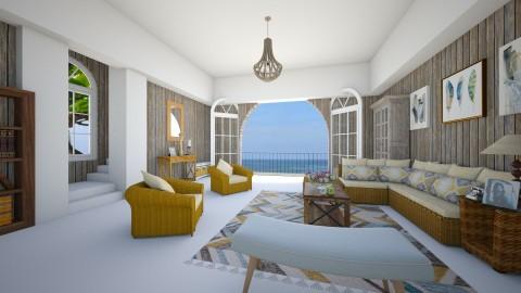 Brasilian - Living room - by Maria Helena Porto