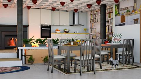 Modern Dining room - Dining room  - by malithu damsath