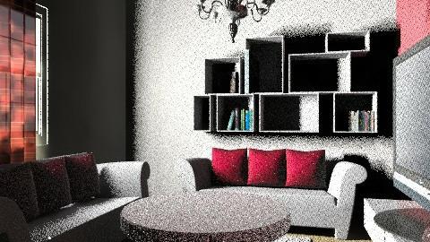 Red Velvet  - Retro - Living room  - by staceyfile