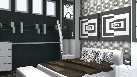 bLk wHt BedRoOm - Eclectic - Bedroom  - by shelleycanuck