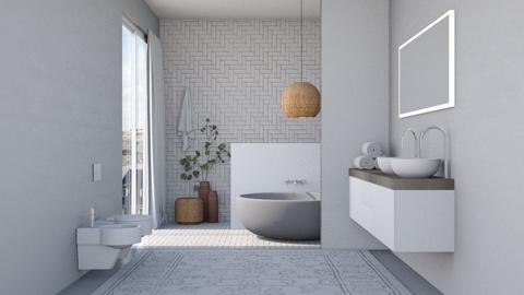 simple bathroom - Bathroom  - by Victoria_happy2021