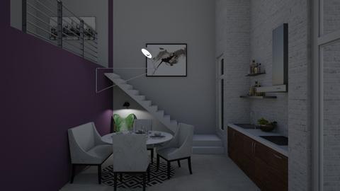 Loft - Living room - by katiebw