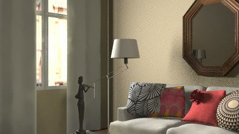 New York View - Glamour - Living room  - by retrodesigner