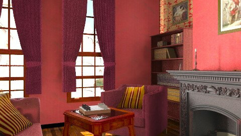 Gryffindor Common Room  - Rustic - Living room - by muffinswithfrosting