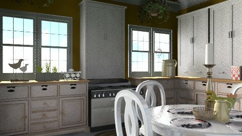 Rustic Kitchen - Country - Kitchen  - by PomBom