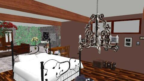 bedroom in garden - Vintage - Bedroom  - by Uliana