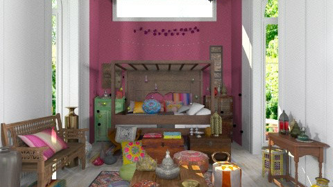 boho bedroom - Classic - Bedroom  - by minervinoi