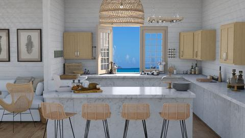 Summer Apt_Kitchen_Living - Kitchen  - by KittyT6