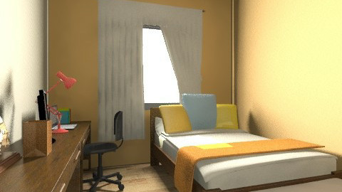 My Room7 - Minimal - Bedroom - by Kattya Jimenez