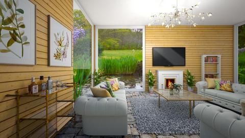 Uptown Cottage Girl - Living room  - by Nikki Lipstick