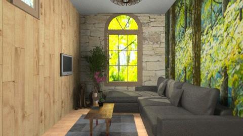 rustic - Rustic - Living room  - by jackiefruit