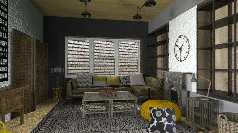 Colour makeover 5 - Eclectic - Living room  - by toadfool