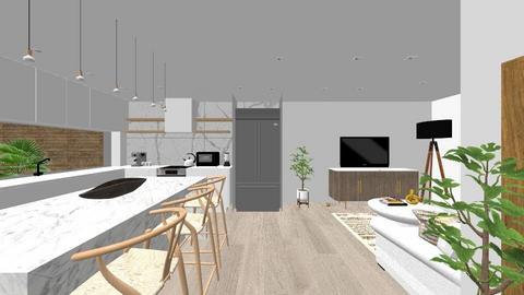 kitchen part 2 - Modern - Kitchen  - by cynabonna