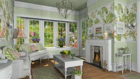 Some Leaves - Vintage - Living room  - by Bibiche